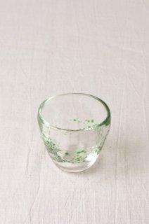 YD66 グラス・酒器・黄緑水玉