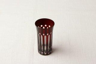 YD06 グラス・酒器・赤・切子グラス