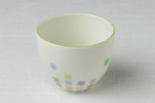 YD73 カップ・白・カラフル水玉