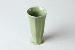 WD78 陶器・コップ・緑色