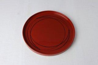 WT54 盆(円・赤・黒ライン)