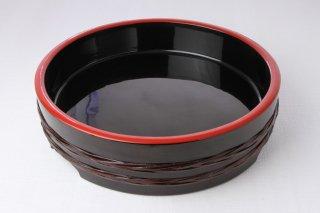 WT67 鉢(円・黒・縁赤)