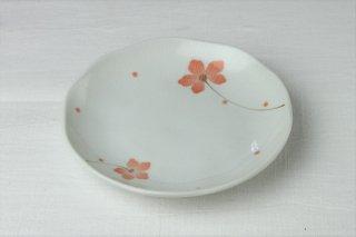 WP46 和皿・白×ピンク・花柄