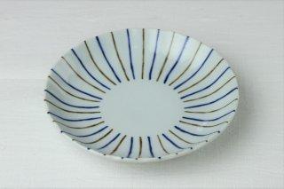 WP48 和皿・白×青×黒・縞柄