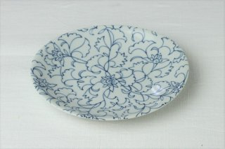 WP49 和皿・白×青・植物柄