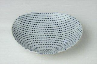 WP51 和皿・白×青・点線柄