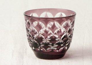 WD35 ガラス 切子風・赤茶