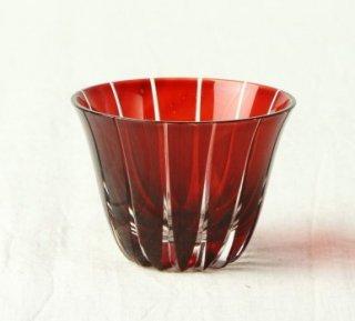 WD48 ガラス 赤 切子風