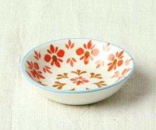 WP20 豆皿 フラワー(赤)
