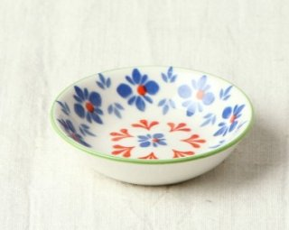 WP21 豆皿 フラワー(青)