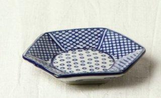 WP28 小皿  角 和柄(青・網)