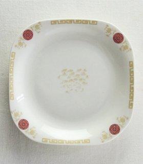 YP743 中華プレート 白 雷紋