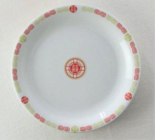 YP742 中華プレート 白 雷紋