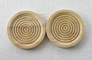 CO003 コースター/丸(ナチュラル)・木製