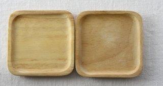 CO004 コースター/角型(ナチュラル)・木製