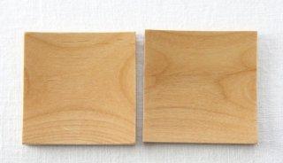CO005 コースター/角型(ナチュラル)・木製