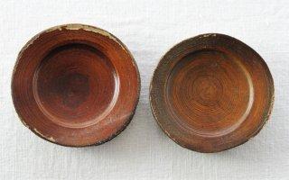 CO015 コースター/丸(茶)・和風(アジアン)・木製