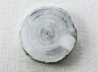 CO016 コースター/丸(白)・洋風・木製