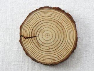 CO017 コースター/丸(茶)・洋風・木製