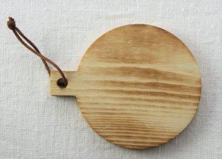 CO020 コースター/丸(ナチュラル)・洋風・木製・取っ手つき