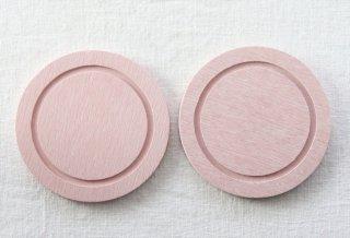 CO040 コースター/丸(ピンク)・洋風・木製