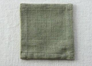 CO164 コースター/四角(緑)・和風・布