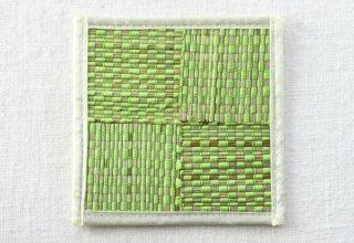 CO170 コースター/四角(黄緑)・和風(アジアン)・いぐさ