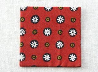 CO173 コースター/四角(赤×黒×白×オレンジ)・和風(アジアン)・和花柄