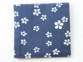CO177 コースター/四角(藍×白)・和風(アジアン)・布・花柄