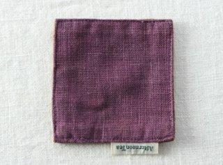 CO182 コースター/四角(紫)・和風(アジアン)・布