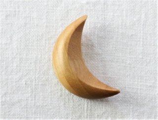 HO037 箸置き/三日月(茶)・木製