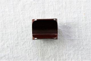 HO038 箸置き/四角(茶)・木製