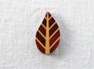 HO055 箸置き/リーフ(茶)・木製