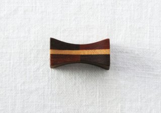 HO061 箸置き/四角(茶)・木製