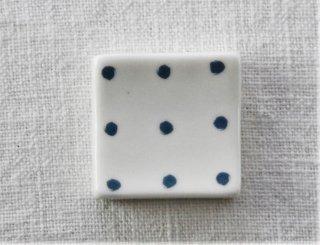 HO093 箸置き/四角(青×白)