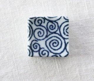 HO096 箸置き/四角(青×白)