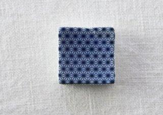 HO097 箸置き/四角(青×白)・麻の葉