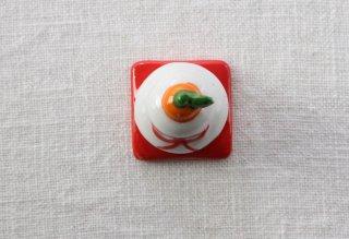 HO102 箸置き/鏡餅(赤×白×オレンジ)