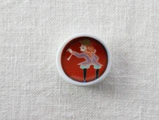 HO110 箸置き/丸(赤)・女の子