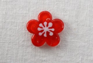 HO112 箸置き/梅・赤×白