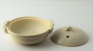T178 土鍋 蓋付き (白)