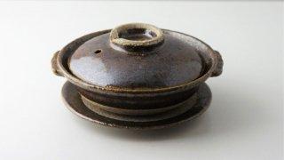 T180 土鍋 蓋・受け皿付き (茶)
