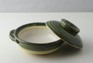 T182 土鍋 蓋付き (緑)