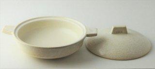 T185 土鍋 蓋付き (白)