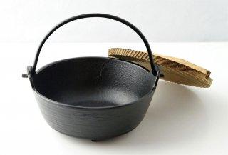 T187 鍋 南部鉄 木蓋付き (黒)