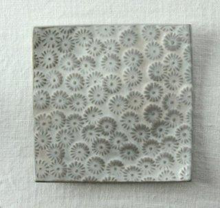 WP746 和風皿/四角(白)・花柄