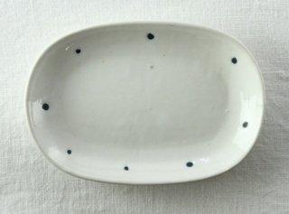 WP832 和皿/楕円(白×青)・ドット