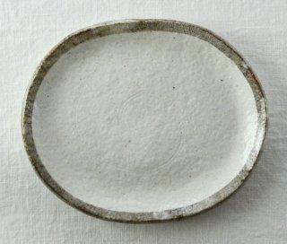 WP835 和皿/楕円(白×グレー)