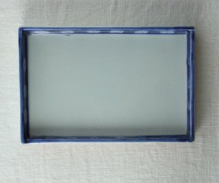 WP847 和皿/四角(白×赤×青)・花と燕