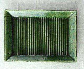 WP852 和皿/四角(緑)・縦縞
